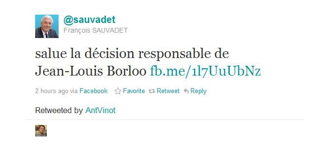 sauvadet twitter Elections 2012 : Jean Louis Borloo ne sera pas candidat pour les présidentielles